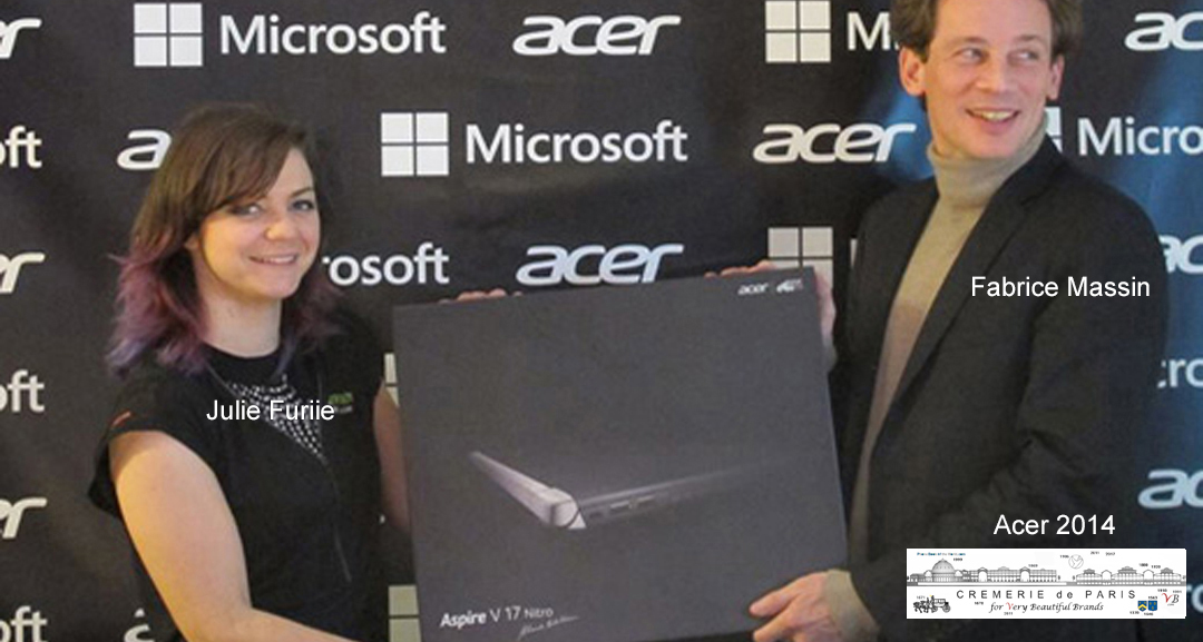 Pop Up Store Acer & Microsoft at the Cremerie de Paris