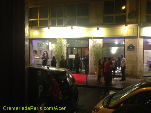 vue sur la Acer Pop Up Store