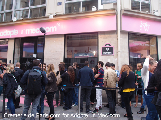 Inauguration boutique adopte un mec la cremerie de paris for Idee boutique a ouvrir