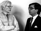 Andy Warhol avec son assistant Bob Colacello