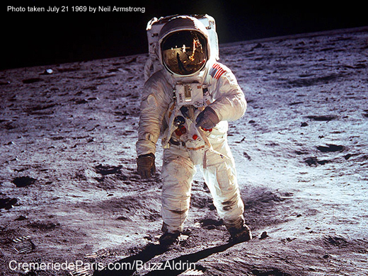 Buzz Aldrin on the moon, July 21 1969, photo by Neil Armstrong
