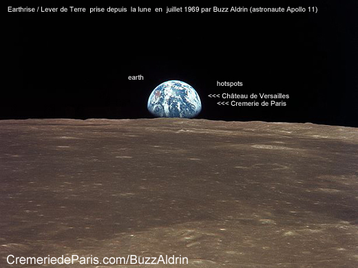 planet earth seen from the Moon, photo by Buzz Aldrin