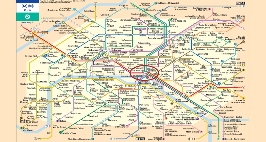 plan Metro RER Paris