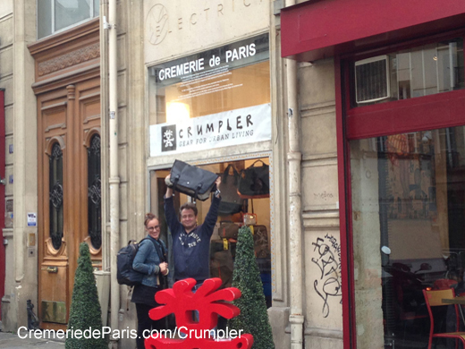 zoom sur la petite Cremerie de Paris en Crumpler Pop Up Store