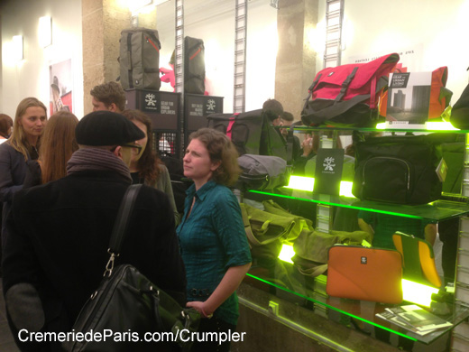 inside the Crumpler Pop Up store