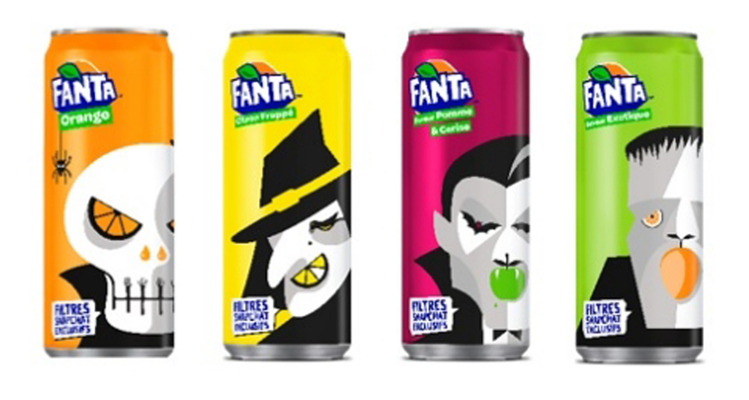 canettes Fanta Halloween 2017