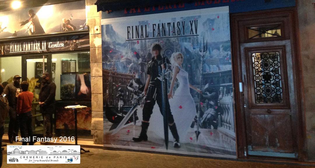 Pop Up Store Final Fantasy at the Cremerie de Paris