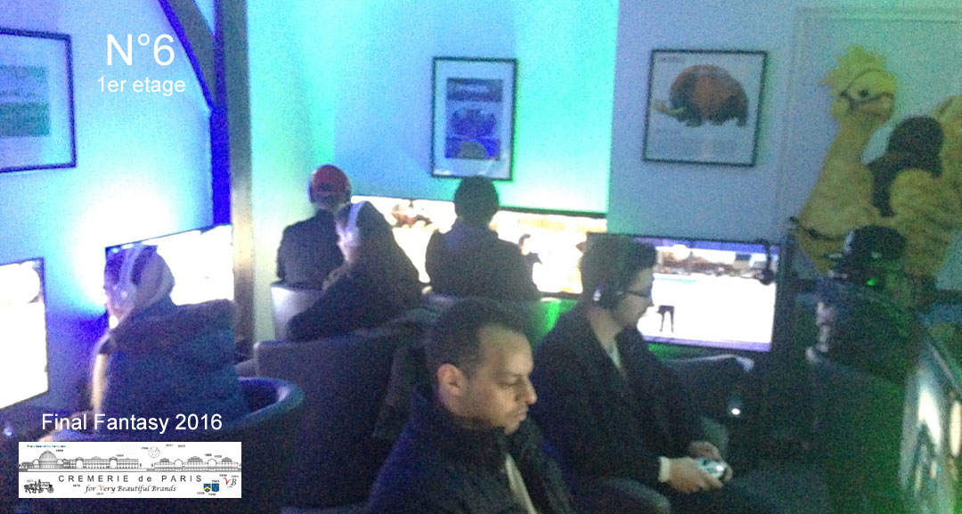 Final Fantasy salle je jeux Pop Up au 1er étage avec Dyle Skobz et Antoine Souvestre
