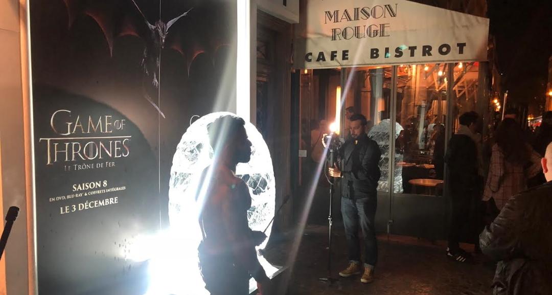 L'oeuf de Dragon illumine le Pop Up Game of Thrones à la Cremerie de Paris N°6
