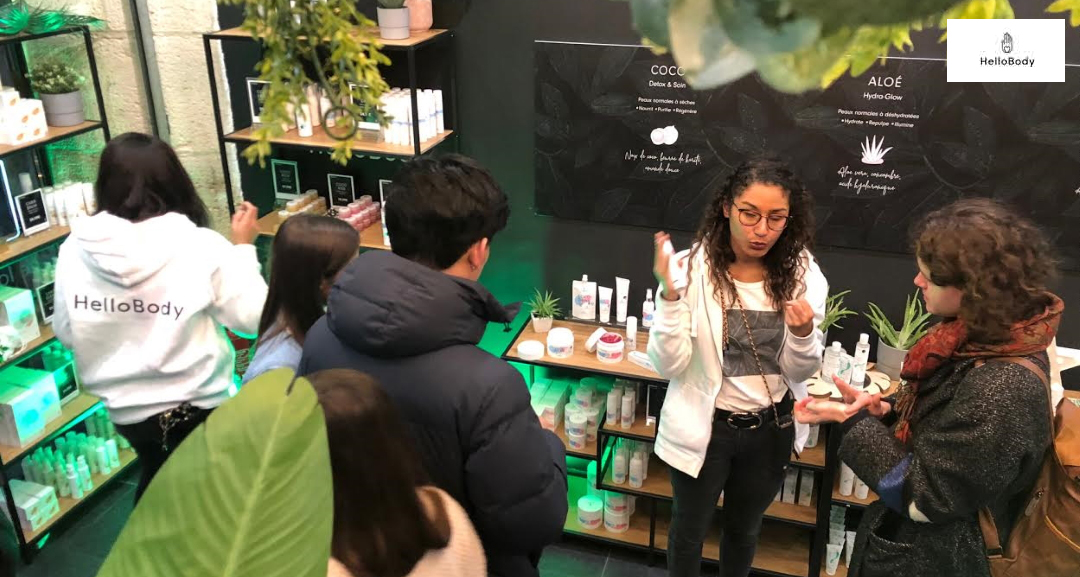 HelloBody Pop Up Store cosmétique, at Cremerie de Paris N°6