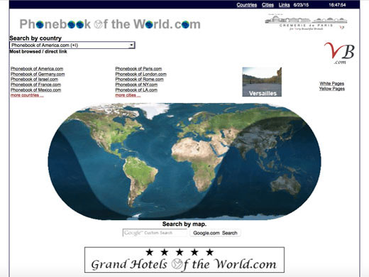 Phonebook of the World homepage