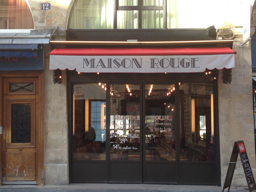 Pop Up Cafe Maison Rouge côté rue des Innocents