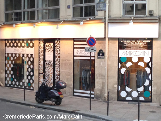 facade du showroom Marc Cain
