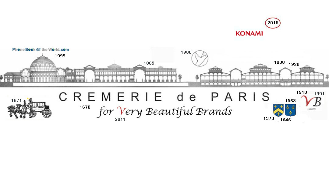 Logo Konami in the history of the Cremerie de Paris