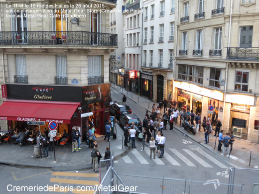 vue sur le pop up store Cremerie de Paris et le Pop Up Cafe Gladines