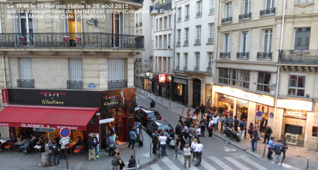 Metal gear pop up store metal gear pop up cafe - 15 rue des halles 75001 paris ...