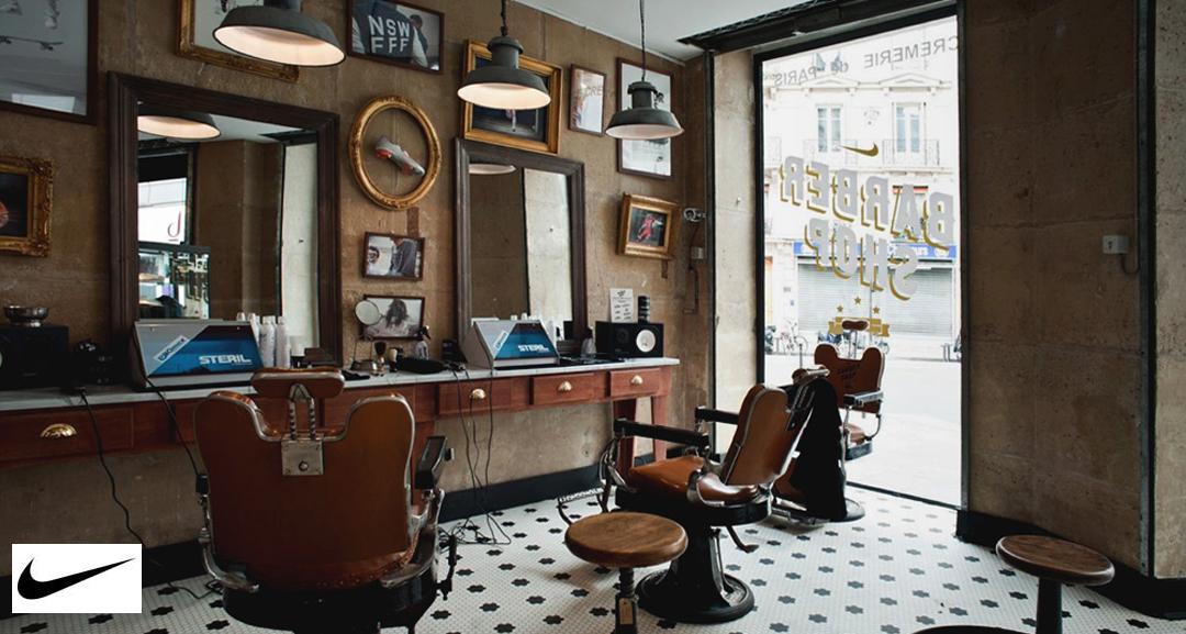 Nike Barber Shop Pop Up Store at the Cremerie de Paris