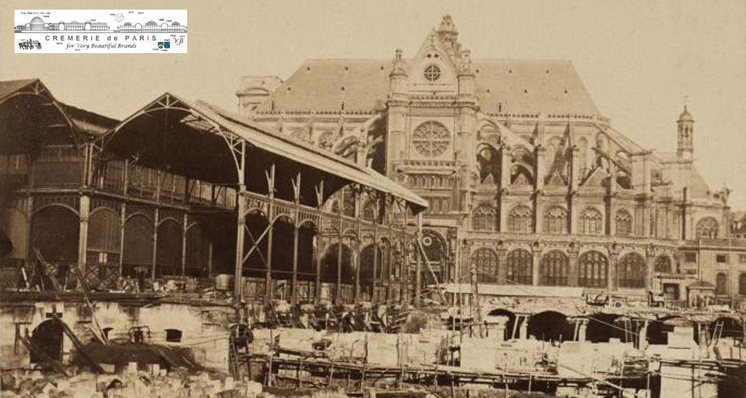 Construction des Pavillons Baltard