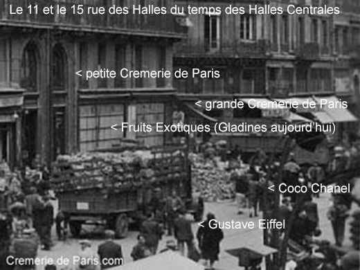 Cremerie de Paris during the times of the Halles Centrales