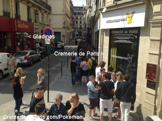 Gladines et la Cremerie de Paris pendant le Pokemon Pop Up Store