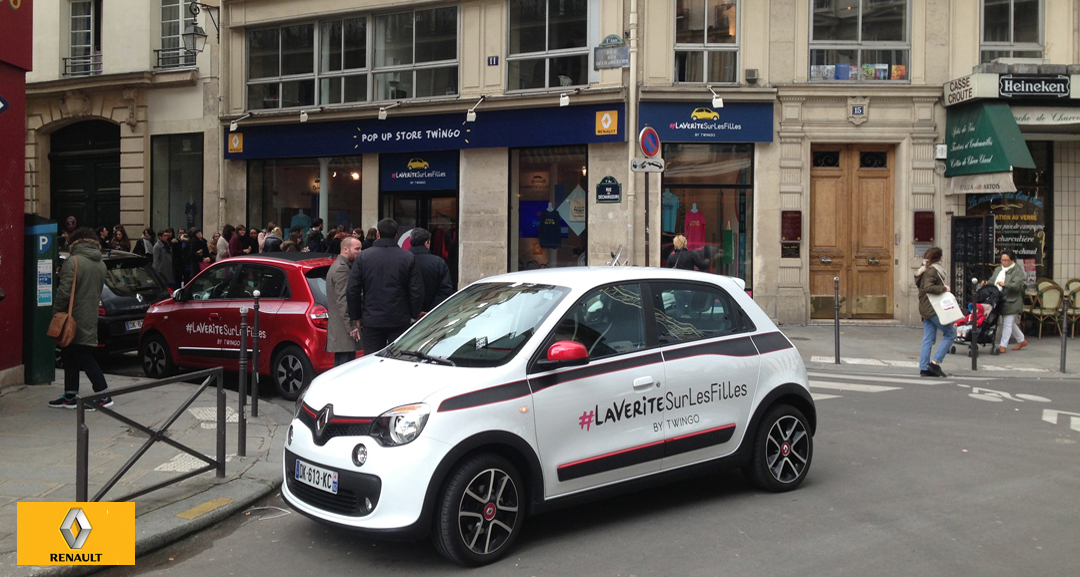 Renault Twingo Pop Up Store at Cremerie de Paris N°1