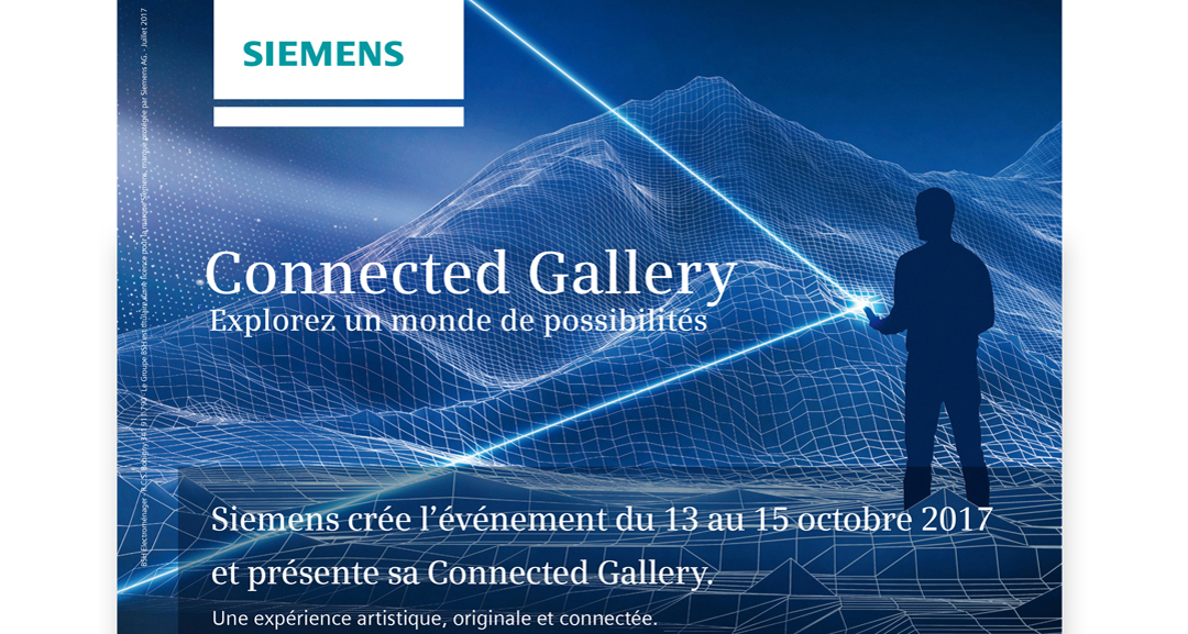 coming october 13 2017 ... Siemens Connected Gallery at Cremerie de Paris