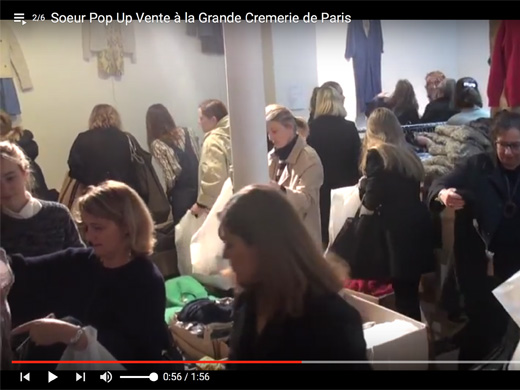 Pop Up shopping dans la Video Soeur