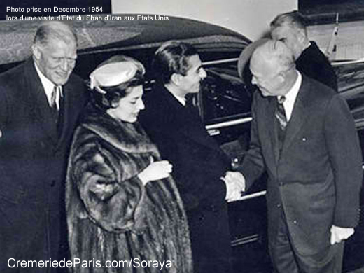 Soraya et Winston Churchill