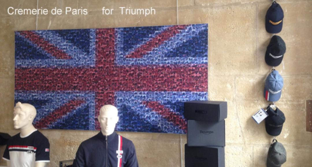 drapeux Union Jack à la façon Triumph Motorcycles
