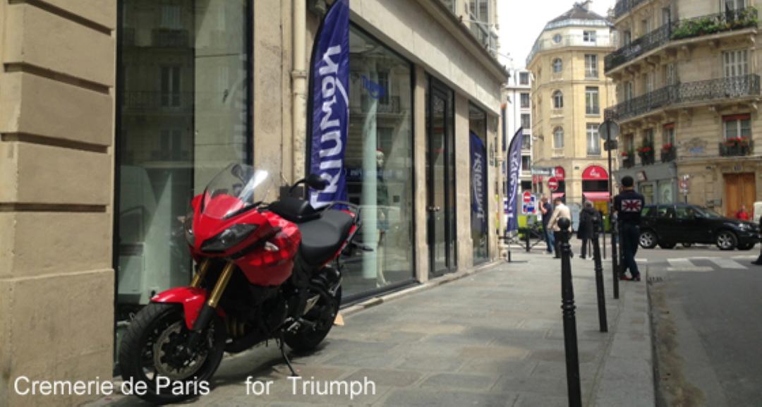 vue sur la Cremerie de Paris en look (Triumph)