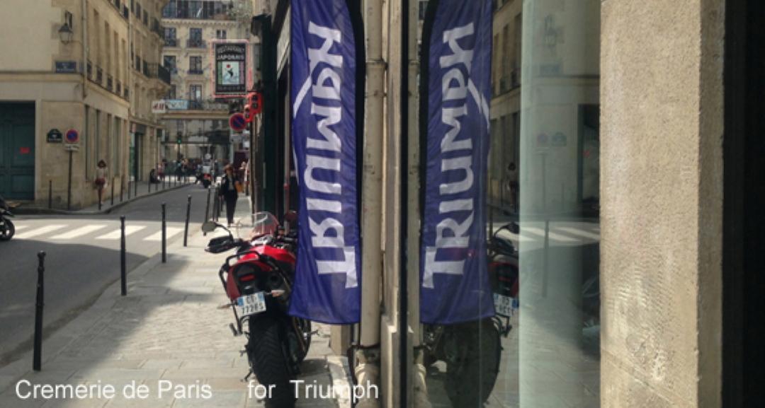 drapeau Triumph et vue vers la rue de Rivoli
