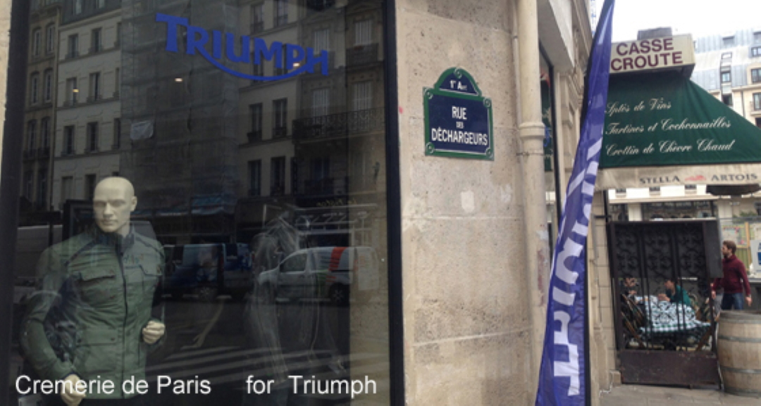 La Cremerie de Paris en Look Triumph et Bistro des Halles