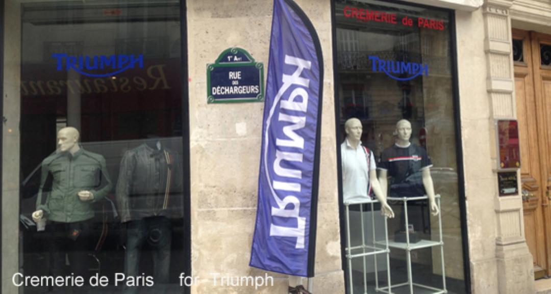 vitrines Triumph de la Cremerie de Paris