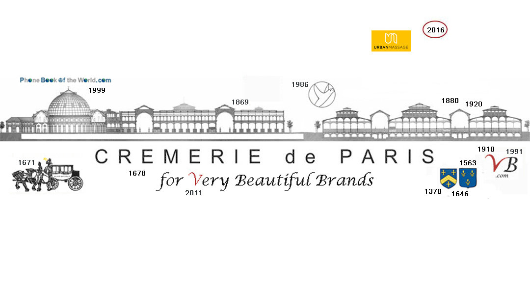 Logo Urban Massage in the history of the Cremerie de Paris