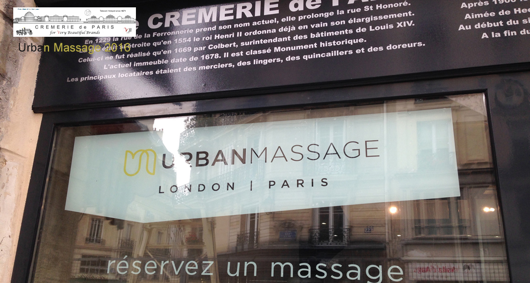 Pop Up Store Urban Massage at the Cremerie de Paris
