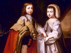 Young King Louis XIV and his brother Prince Philippe
