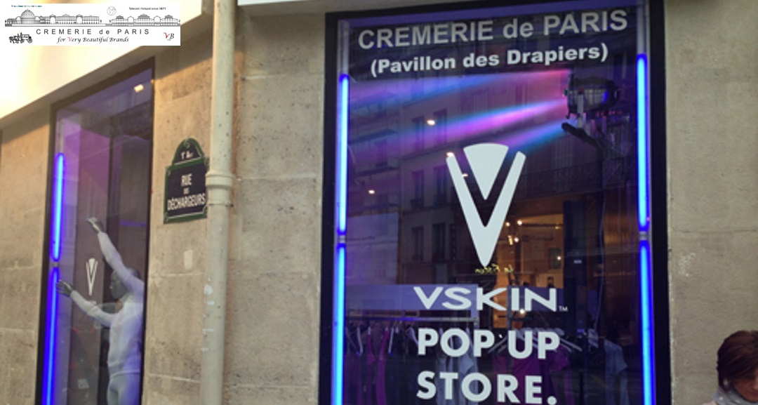 vskin pop up store la cremerie de paris. Black Bedroom Furniture Sets. Home Design Ideas